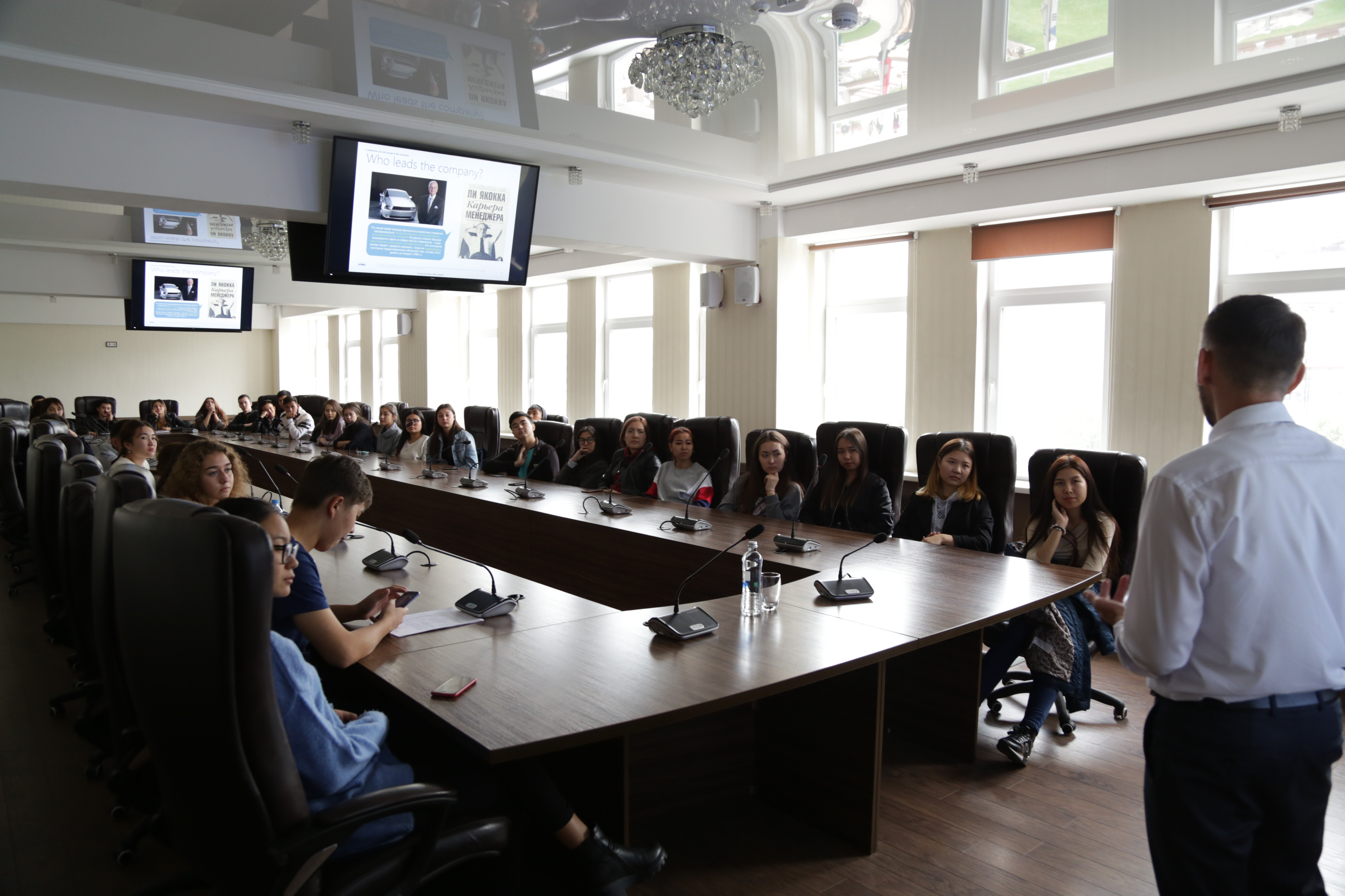 Встреча студентов университета «Туран» с представителем «KPMG»